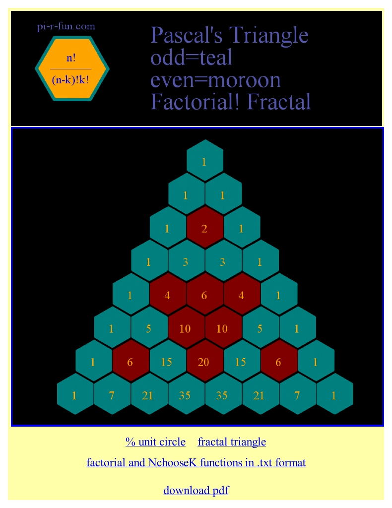 fractal Pascal triangle1