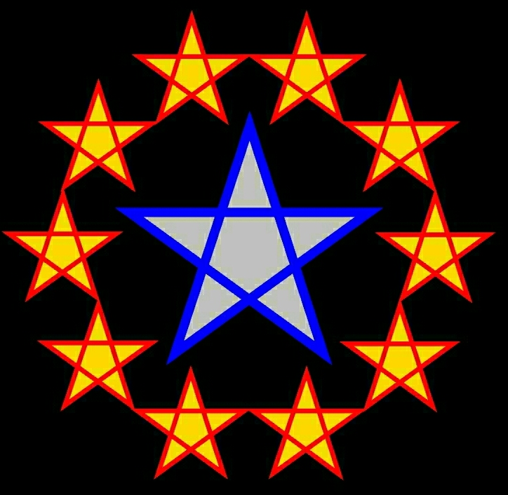 five point stars and pentagon